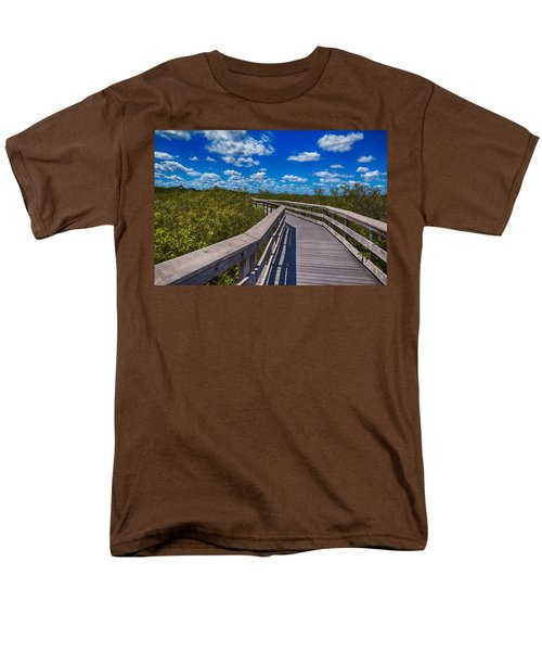 Everglades Trail Men's T-Shirt  (Regular Fit) by Swank Photography