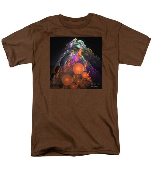 Men's T-Shirt  (Regular Fit) featuring the digital art Exuberant - Abstract Art by Sipo Liimatainen