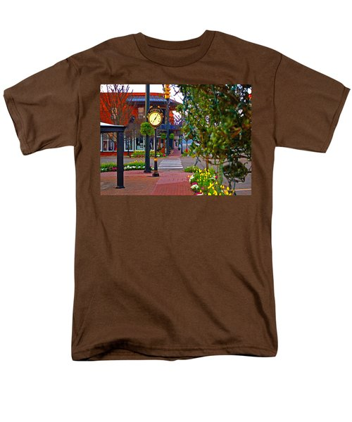 Fairhope Ave With Clock Down Section Street Men's T-Shirt  (Regular Fit) by Michael Thomas