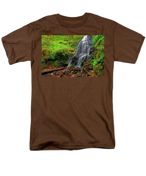 Fairy Falls Oregon Men's T-Shirt  (Regular Fit) by Jonathan Davison
