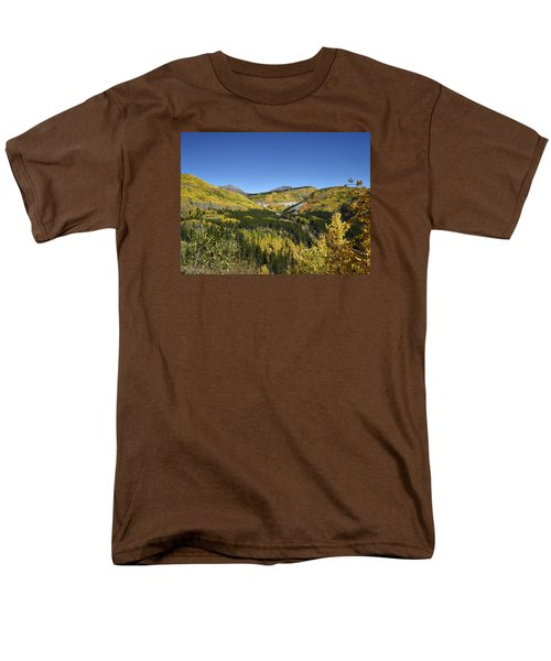 Fall Aspens In San Juan County In Colorado Men's T-Shirt  (Regular Fit) by Carol M Highsmith