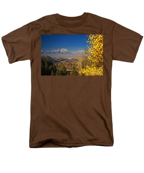 Fall Colors At The Snake River Overlook Men's T-Shirt  (Regular Fit) by Sam Antonio Photography