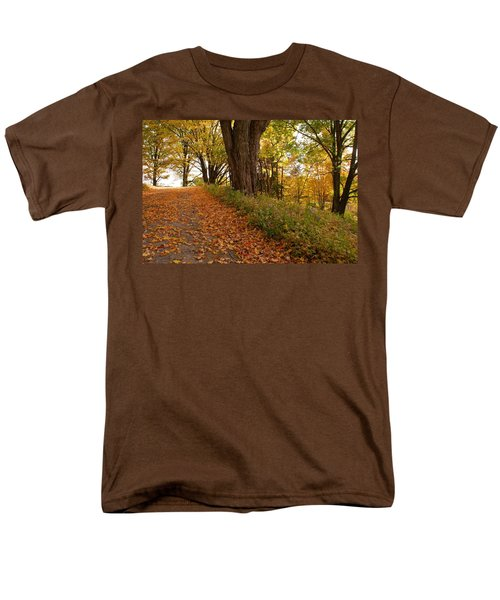 Men's T-Shirt  (Regular Fit) featuring the photograph Fall Driveway by Lois Lepisto