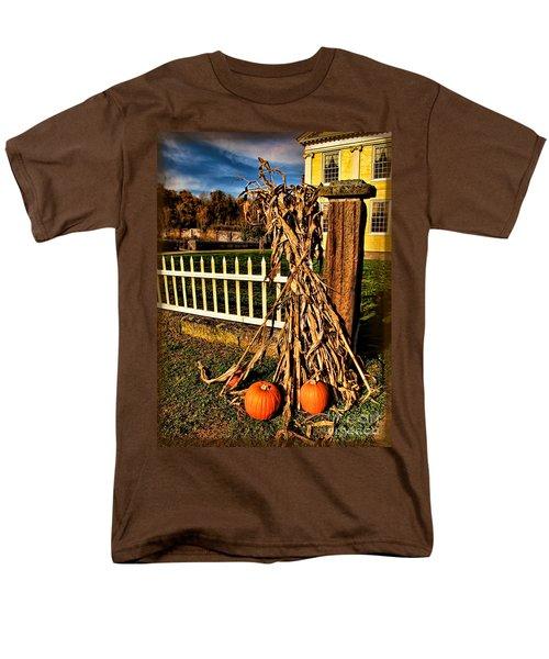 Fall Fence At Hale Farm Men's T-Shirt  (Regular Fit) by Joan  Minchak