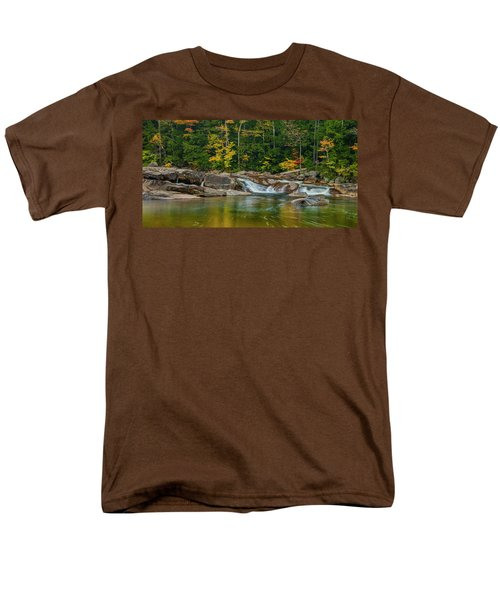 Fall Foliage In Autumn Along Swift River In New Hampshire Men's T-Shirt  (Regular Fit) by Ranjay Mitra