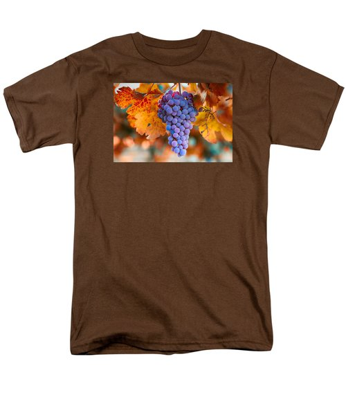 Men's T-Shirt  (Regular Fit) featuring the photograph Fall Grapes From The Yakima Valley,  by Lynn Hopwood