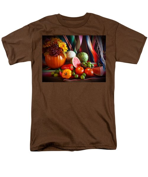 Men's T-Shirt  (Regular Fit) featuring the painting Fall Harvest Still Life by Marilyn Smith