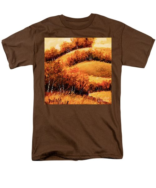 Men's T-Shirt  (Regular Fit) featuring the painting Fall by Igor Postash