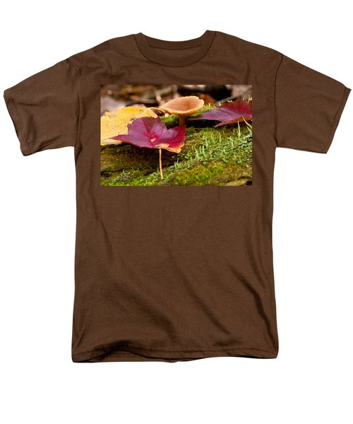 Fallen Leaves And Mushrooms Men's T-Shirt  (Regular Fit) by Brent L Ander
