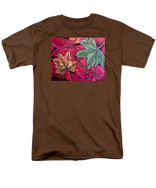 Falling Leaves Two Painting Men's T-Shirt  (Regular Fit) by Kimberlee Baxter