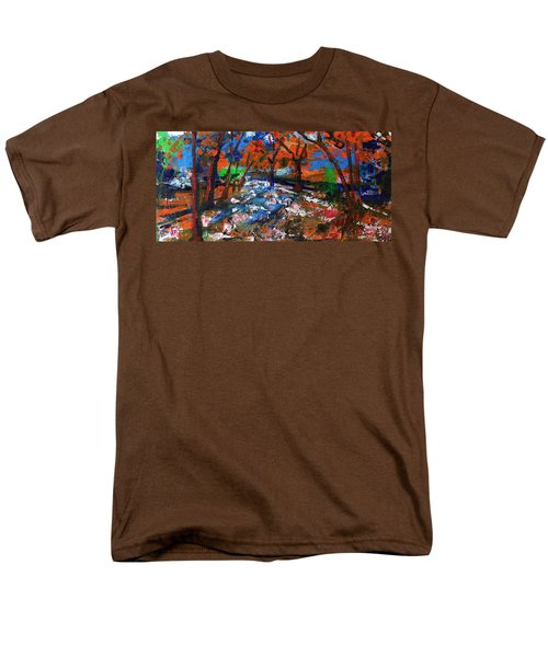 Fall Colors And First Snow Men's T-Shirt  (Regular Fit) by Walter Fahmy