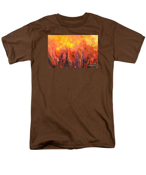 Men's T-Shirt  (Regular Fit) featuring the painting Fantastic Fire by Tatiana Iliina