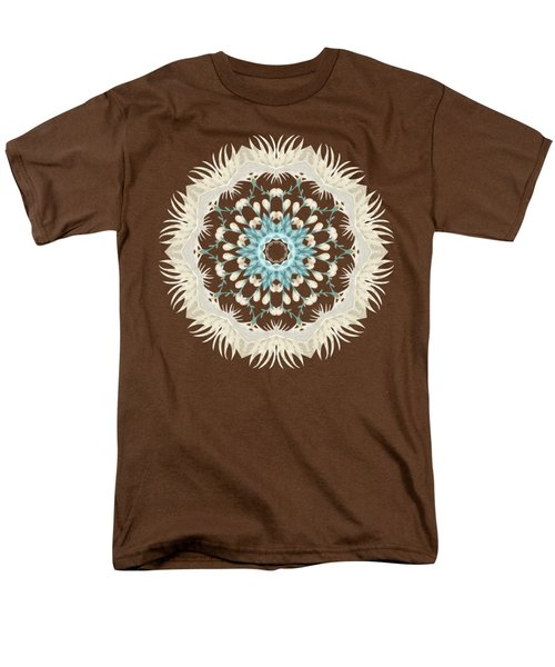 Feathers And Catkins Kaleidoscope Design Men's T-Shirt  (Regular Fit) by Mary Machare