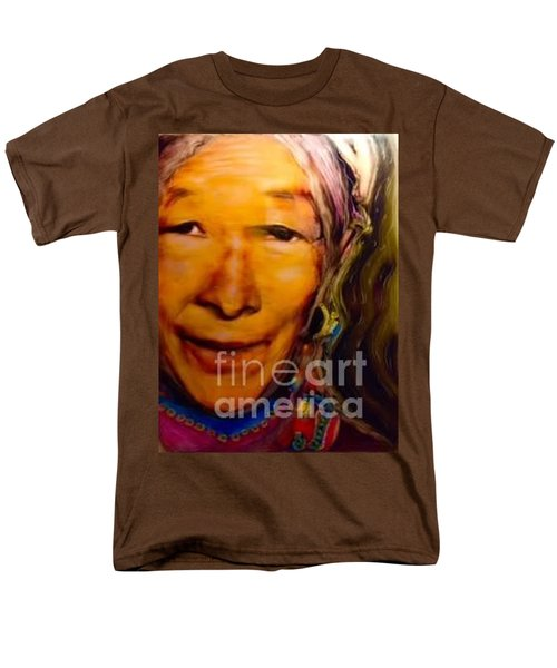 Men's T-Shirt  (Regular Fit) featuring the painting Feeling Light Within We Walk by FeatherStone Studio Julie A Miller