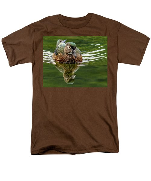 Men's T-Shirt  (Regular Fit) featuring the photograph Female Wood Duck by Jean Noren