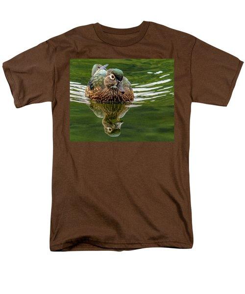 Female Wood Duck Men's T-Shirt  (Regular Fit) by Jean Noren