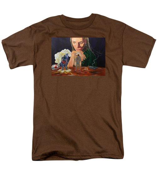 Femina Deciding Men's T-Shirt  (Regular Fit) by Lazaro Hurtado