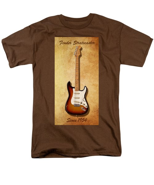 Men's T-Shirt  (Regular Fit) featuring the digital art Fender Stratocaster Since 1954 by WB Johnston