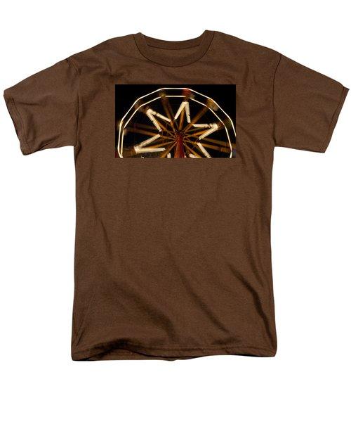 Ferris Wheel At Night Men's T-Shirt  (Regular Fit) by Helen Northcott