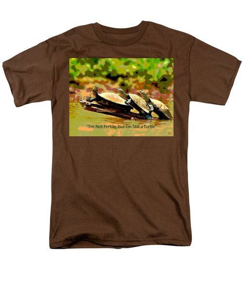 Men's T-Shirt  (Regular Fit) featuring the mixed media Fertile Turtle by Charles Shoup
