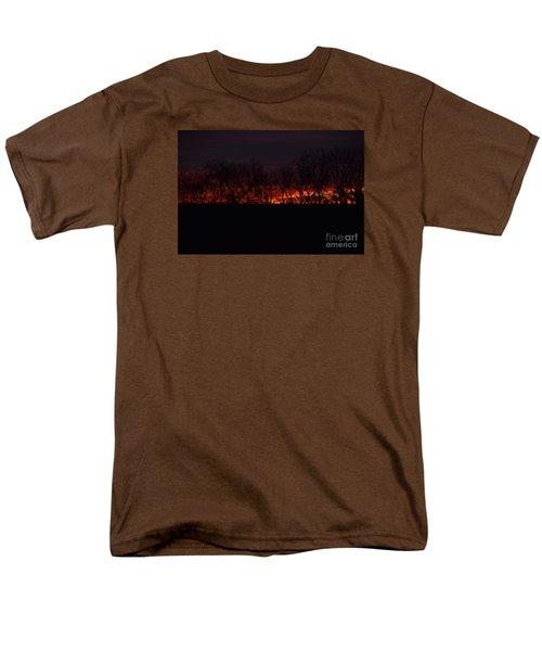 Men's T-Shirt  (Regular Fit) featuring the photograph Fiery Kansas Sky by Mark McReynolds