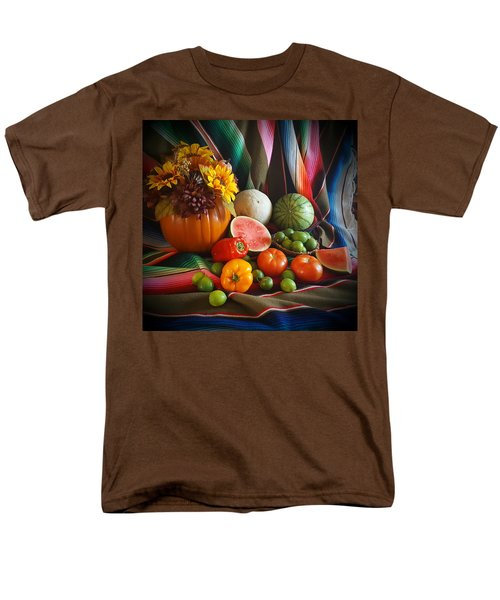 Men's T-Shirt  (Regular Fit) featuring the painting Fiesta Fall Harvest by Marilyn Smith