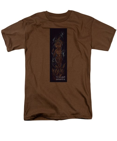 Men's T-Shirt  (Regular Fit) featuring the drawing Fire by Dawn Fairies