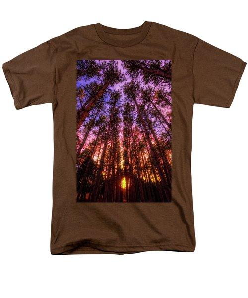 Men's T-Shirt  (Regular Fit) featuring the photograph Fire Sky - Sunset At Retzer Nature Center - Waukesha Wisconsin by Jennifer Rondinelli Reilly - Fine Art Photography