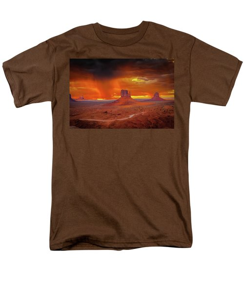 Firestorm Over The Valley Men's T-Shirt  (Regular Fit) by Mark Dunton