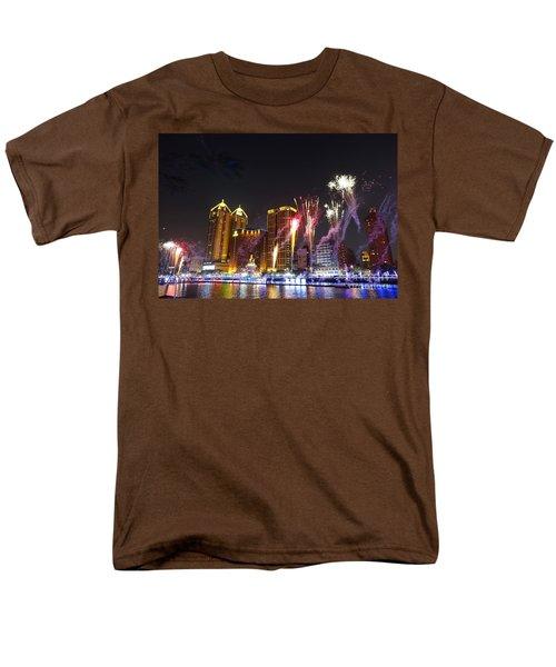 Fireworks Along The Love River In Taiwan Men's T-Shirt  (Regular Fit) by Yali Shi