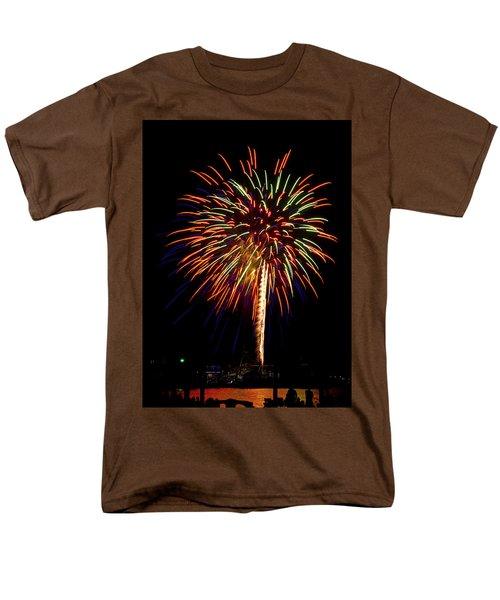 Men's T-Shirt  (Regular Fit) featuring the photograph Fireworks by Bill Barber