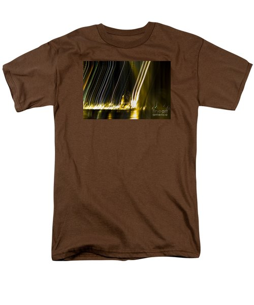 fireworks in Port of Malaga Men's T-Shirt  (Regular Fit) by Perry Van Munster