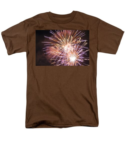 Men's T-Shirt  (Regular Fit) featuring the digital art Fireworks In The Park 3 by Gary Baird
