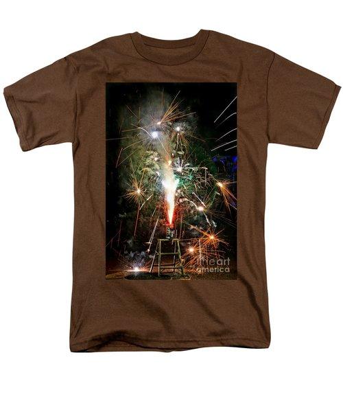 Fireworks Men's T-Shirt  (Regular Fit) by Vivian Krug Cotton