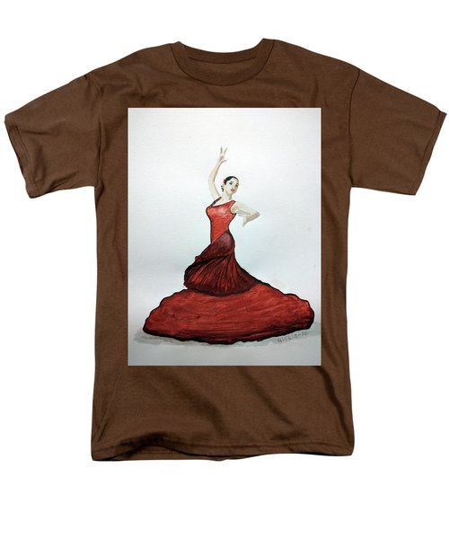 Men's T-Shirt  (Regular Fit) featuring the painting Flamenco Dancer by Edwin Alverio