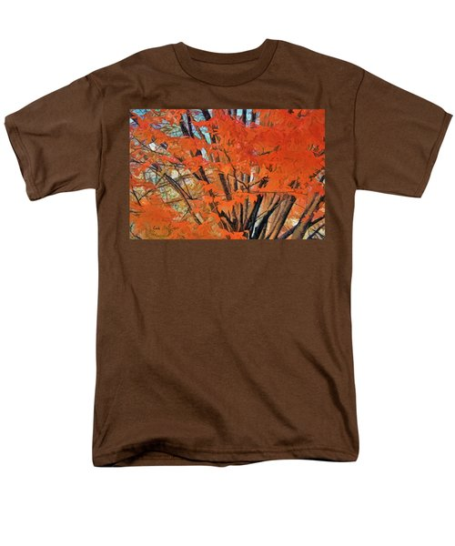 Men's T-Shirt  (Regular Fit) featuring the digital art Flaming Fall Foliage by Terry Cork