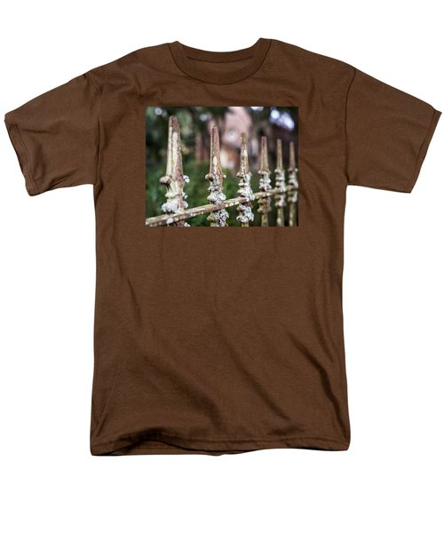 Men's T-Shirt  (Regular Fit) featuring the photograph Fleur De Lis Finial by Andy Crawford