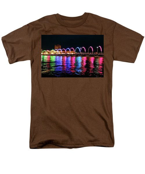 Men's T-Shirt  (Regular Fit) featuring the photograph Floating Bridge, Willemstad, Curacao by Kurt Van Wagner