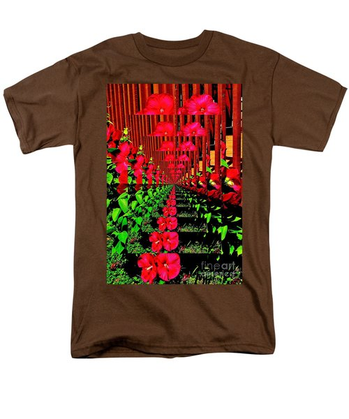 Flower Garden Abstract Men's T-Shirt  (Regular Fit) by Marsha Heiken