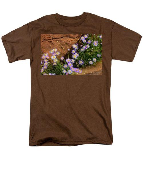 Flowers In The Rocks Men's T-Shirt  (Regular Fit) by Darren White