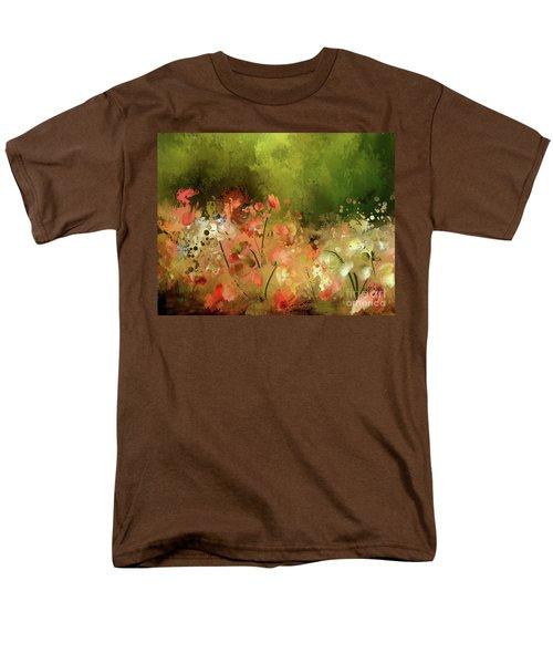 Men's T-Shirt  (Regular Fit) featuring the digital art Flowers Of Corfu by Lois Bryan