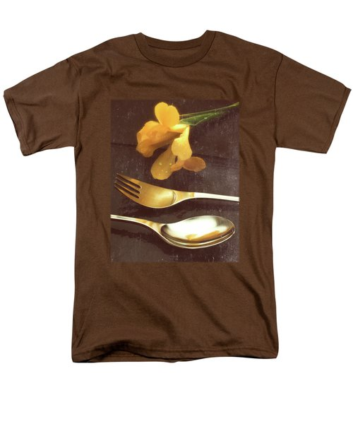 Flowers On Slate Variation 3 Men's T-Shirt  (Regular Fit) by Jon Delorme
