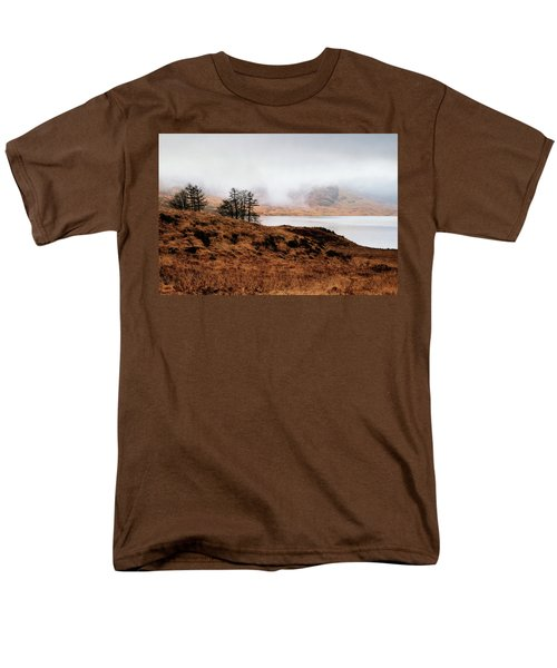 Foggy Day At Loch Arklet Men's T-Shirt  (Regular Fit) by Jeremy Lavender Photography