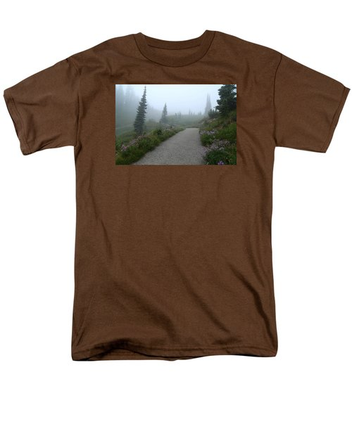 Men's T-Shirt  (Regular Fit) featuring the photograph Foggy In Paradise 2 by Lynn Hopwood