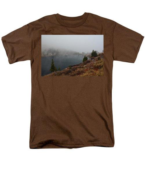 Men's T-Shirt  (Regular Fit) featuring the photograph Foggy Liberty Lake by Jenessa Rahn