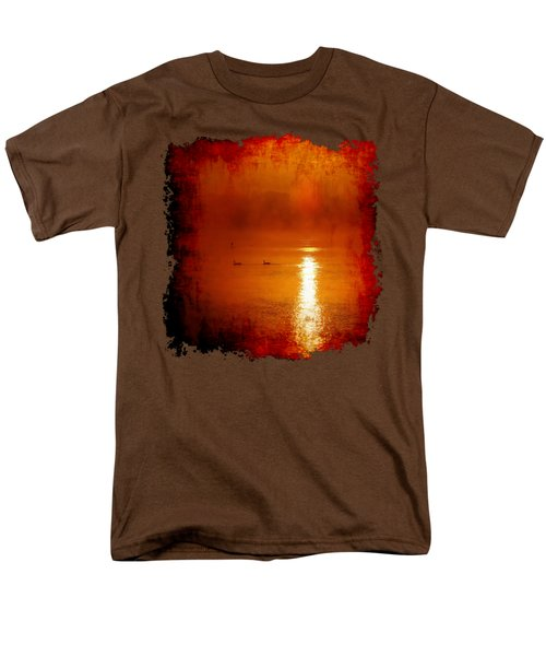 Foggy Morning On The River Men's T-Shirt  (Regular Fit) by Nick Kloepping