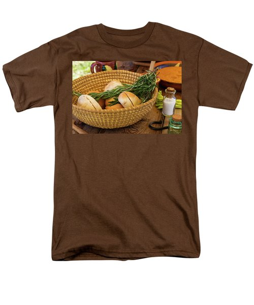 Men's T-Shirt  (Regular Fit) featuring the photograph Food - Bread - Rolls And Rosemary by Mike Savad