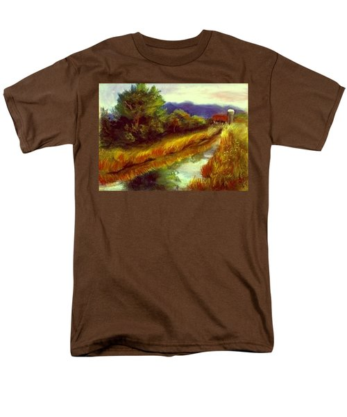 Men's T-Shirt  (Regular Fit) featuring the painting For A Thirsty Land by Gail Kirtz