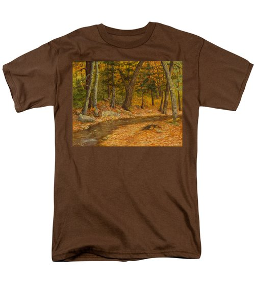 Men's T-Shirt  (Regular Fit) featuring the painting Forest Life by Roena King