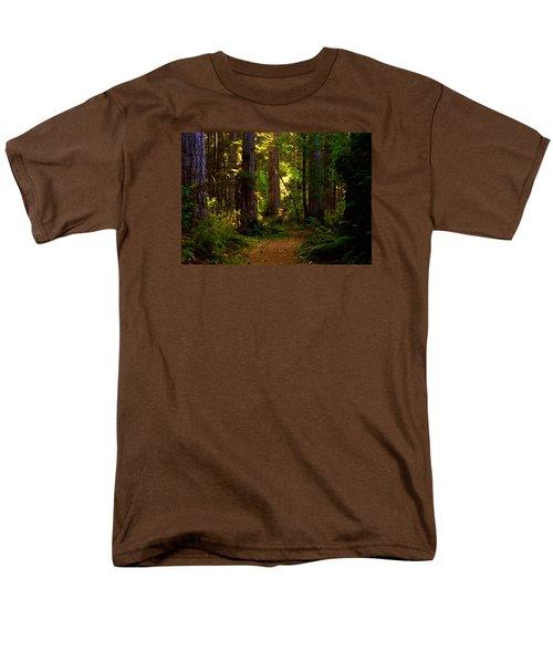 Forest Path Men's T-Shirt  (Regular Fit) by Lori Seaman